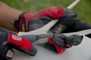 Using a Dremel tool