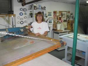Henning in her studio