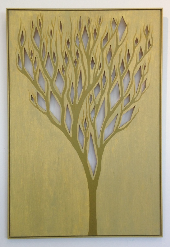 Tree With Diamonds,36x25,acrylic:wood,